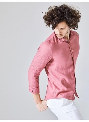 Xint Uzun Kollu Gömlek Pembe